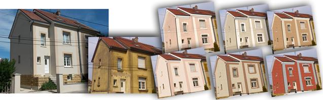Fa ade isolation ext rieur cr pis peinture for Couleur facade maison simulation